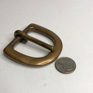 Vintage big old brass buckle